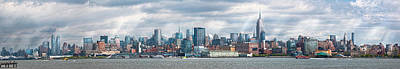 Antique Photograph - City - Skyline - Hoboken Nj - The Ever Changing Skyline by Mike Savad
