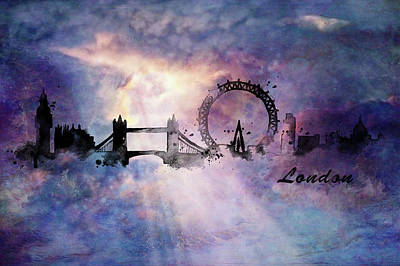 Painting - City Skyline - London by Lilia D