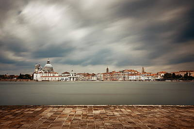 Photograph - City Skyline Of Venice Long Exposure by Songquan Deng