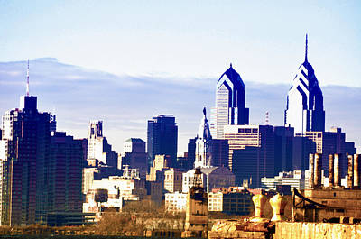 Philadelphia Skyline Photograph - City Skyline Philadelphia by Bill Cannon