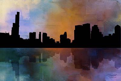 City Skyline Reflections Art Print