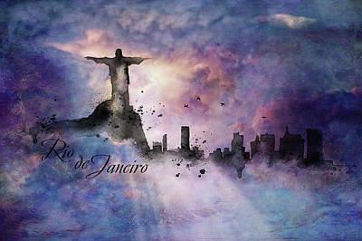 Painting - City Skyline - Rio De Janeiro by Lilia D
