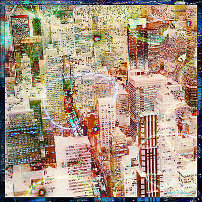 Nyc Digital Art - City Snowstorm by Barbara Berney