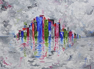 Wall Art - Painting - City Spec 4 by Tessa Lang