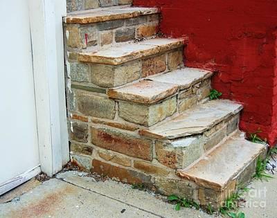 Flagstone Photograph - City Steps by Debbi Granruth