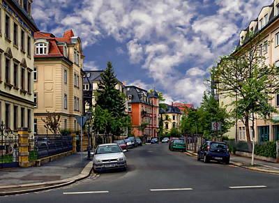 Photograph - City Street Scene by Anthony Dezenzio