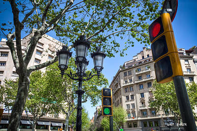 Photograph - The Stop And Go Of Barcelona by Walt  Baker