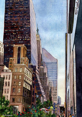 Painting - City Sunrise by Anne Gifford