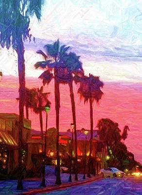 City Sunset Digital Art - City Sunset by Ronald Irwin