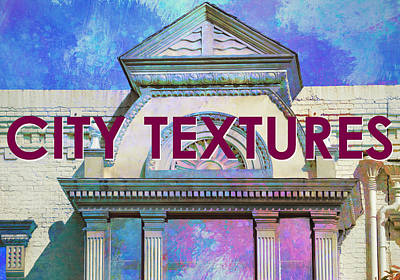 Mixed Media - City Textures Rainbow Art by John Fish
