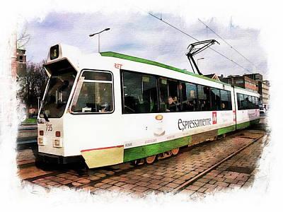Photograph - City Tram by Anthony Dezenzio