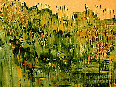 Painting - City Twilight 2 by Nancy Kane Chapman