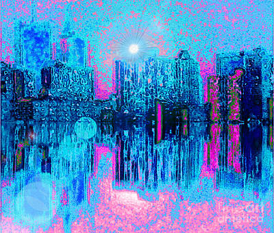 Digital Art - City Twilight by Holly Martinson