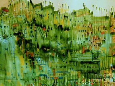 Painting - City Twilight by Nancy Kane Chapman