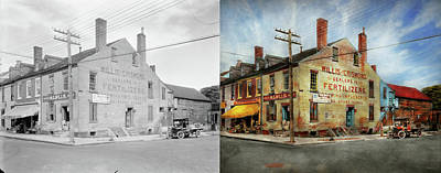 Photograph - City - Va - Willis And Crismond, Dealers In Fertilizers 1928 - Side By Side by Mike Savad