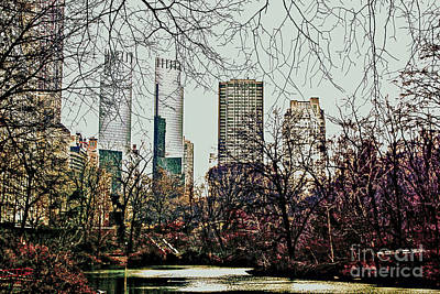 City View From Park Art Print by Sandy Moulder