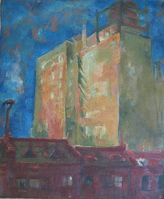 Wall Art - Painting - City View by Inge Klimpt