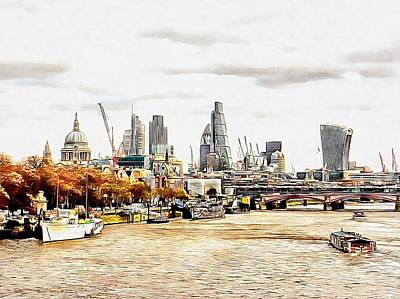 Photograph - City View London by Dorothy Berry-Lound