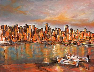 Painting - City View by Miki  Sion