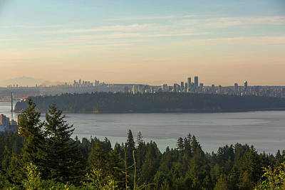 City View Of Vancouver And Burnaby Bc Art Print by David Gn