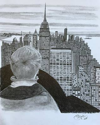 Drawing - City View  by Tony Clark