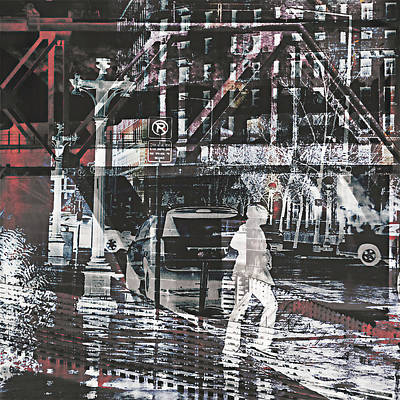 Digital Art - City Walk by Susan Stone