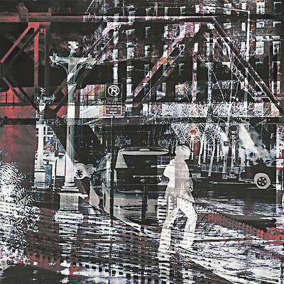 Digital Art - City Walk by Susan Stone