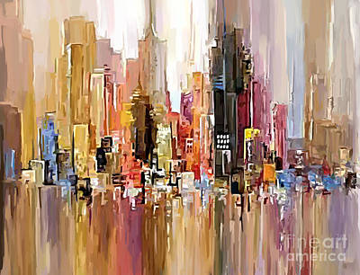 Painting - City Wash by Tim Gilliland