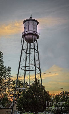 City Water Tower Art Print