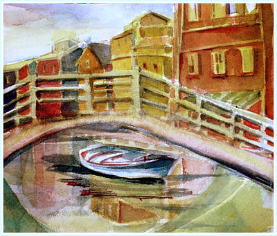 Water Way Painting - City Where The Rainbow Fell by Mindy Newman