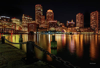 Photograph - City With A Soul- Boston Harbor by Tim Bryan