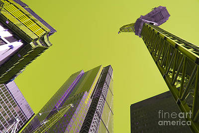 Tower Crane Photograph - City Yellow  by Rob Hawkins