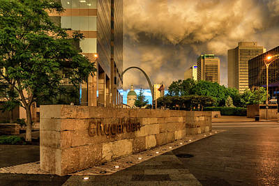 Photograph - Citygarden And Gateway Mall St Louis Mo_dsc4531_16 by Greg Kluempers
