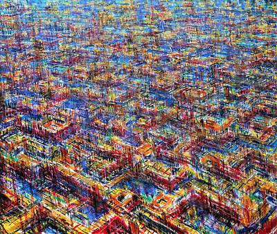 Birdseye Painting - Citypattern by De Es Schwertberger