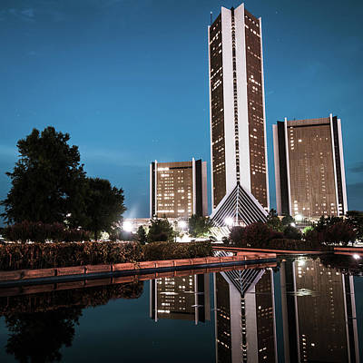 Photograph - Cityplex Towers - Tulsa Oklahoma Square Format by Gregory Ballos