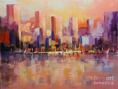 Painting - Cityscape 2 by Rosario Piazza