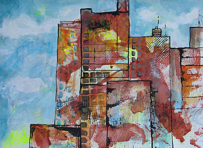 Painting - Cityscape 230 by Karin Husty