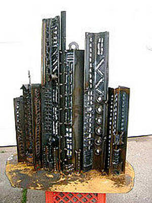 Sculpture - Cityscape 5 by Don Thibodeaux