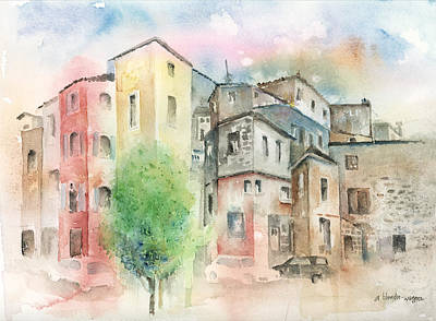 Cityscape Art Print by Arline Wagner
