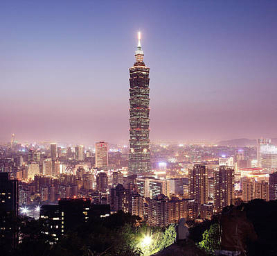 Taipei Photograph - Cityscape At Night by Spiraldelight