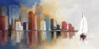 Digital Art - Cityscape At Sunrise by Eduardo Tavares