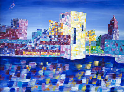Painting - Cityscape Cleveland by JoAnn DePolo