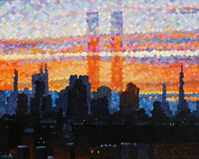 Painting - Cityscape Poster by Glenn Tunstull