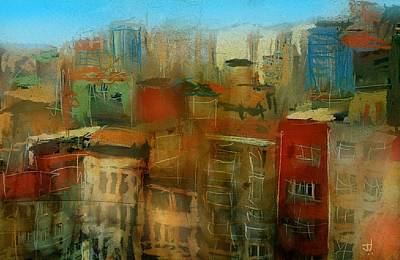 Painting - Cityscape I by Jim Vance