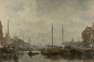 Painting - Cityscape  Jacob Maris  C 1885   C 1887 by R Muirhead Art