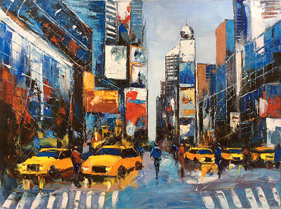 Shopping Center Painting - Cityscape by Lin