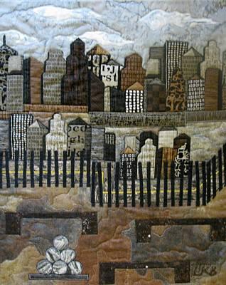 Lynda Boardman Art Tapestry - Textile - Cityscape by Lynda K Boardman