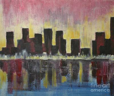 Nashville Architecture Painting - Cityscape  by Michael Stanley