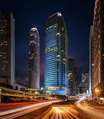 Photograph - Cityscape Of Building In Hong Kong by Anek Suwannaphoom