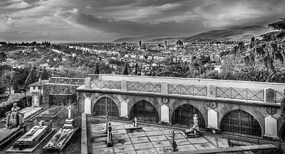 Photograph - Cityscape Of Florence And Cemetery by Sonny Marcyan